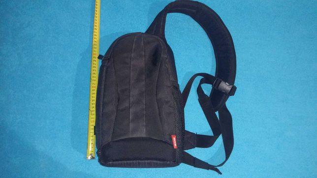 plecak torba na aparat lustrzankę przód tył