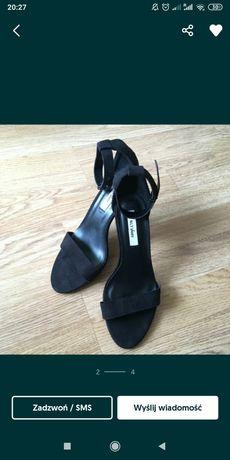 Sandałki szpilka czarne 38