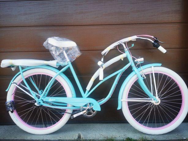 NOWY rower cruiser damski Embassy Aloha + koszyk!