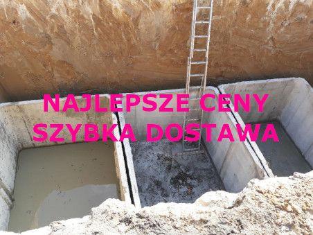 8m3 betonowe na szambo, deszczówkę ścieki gnojówkę ZBROJONE