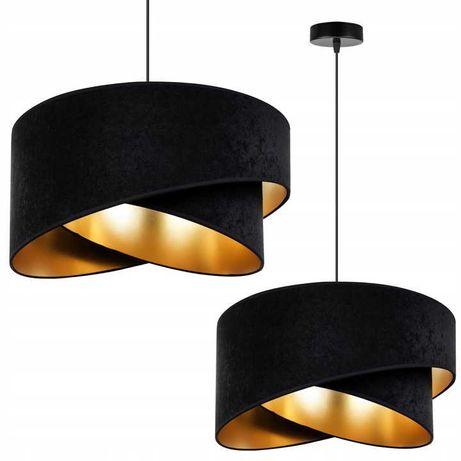 Lampa wisząca welurowy abażur 45cm - kolory