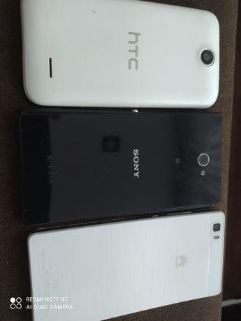 Sprzedam trzy uszkodzone telefony.