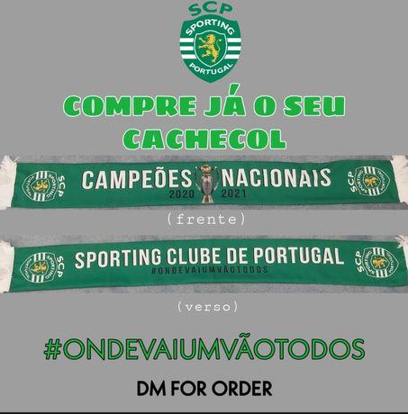 Cachecol Sporting Campeões 2020/2021 entrega imediata