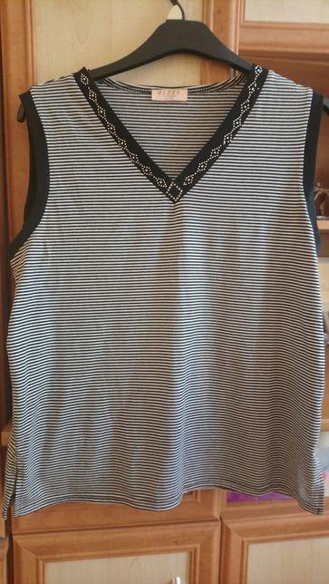 Bluzka bez rękawów w czarno białe paski rozmiar XL/2XL/3XL