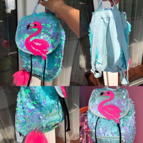 Фирменный детский рюкзак портфель с пайетками Justice