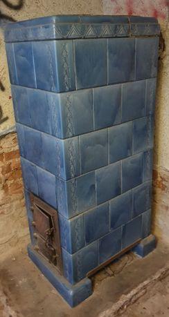 Kobaltowe kafle z pieca