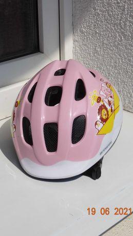 Kask Btwin różowy dla dziewczynki roz. 46-54 cm. Wysyłka za 5 zł.