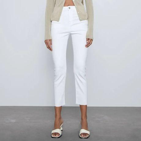 Calças Brancas Flare/boca de sino Zara