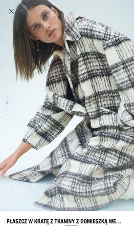 Zara blogerski płaszcz w kratę