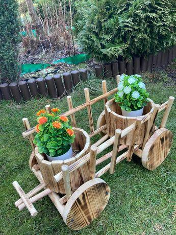 wóz ogrodowy z drewna