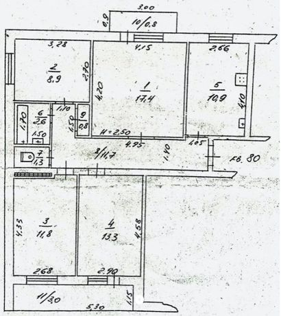 4-х комнатная квартира в районе парка Победы