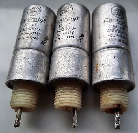 Kondensator elektrolityczny 32 uF 450 V - 500 V Centrolyt