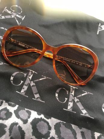 Zestaw nowe okulary Love Moschino + apaszka CK