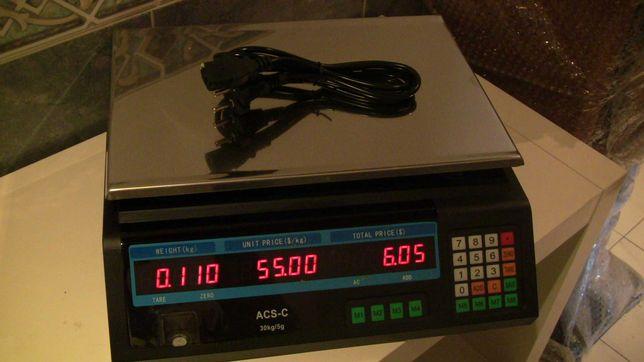 Balança Digital - pesa até 40 kg. 220V e bateria