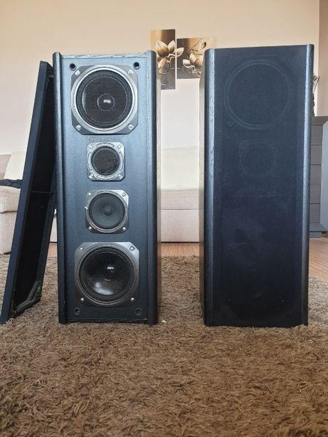 Dwie drewniane kolumny, głośniki SKART 100 z lat 80-tych 100/120 WATT