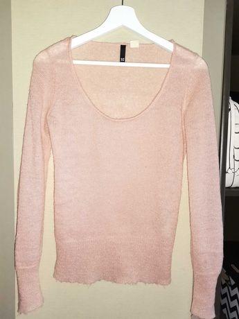 Sweterek blado różowy H&M