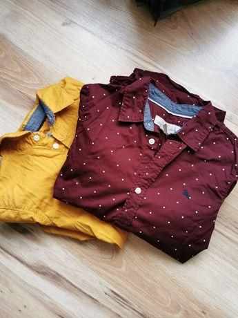 2 koszule marki h&m rozm 134 w stanie idealnym