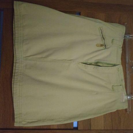 Seledynowa spódnica dżinsowa