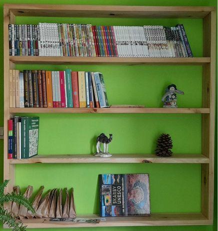 Duża, wisząca półka na książki, gry, zdjęcia