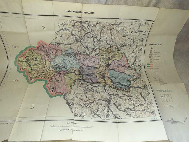 18zl Mapa powiatu Kłodzko 1971