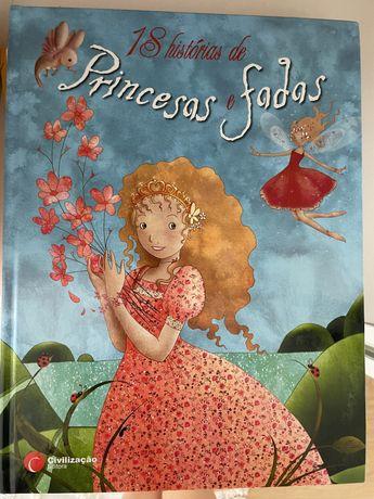 Livro 18 histórias de Princesas e fadas