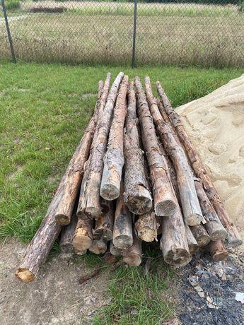 Stemple budowlane, drewniane dł. 2,6m