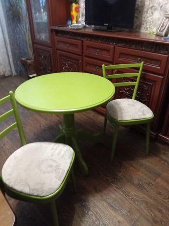 продам стол и стул после реставрации