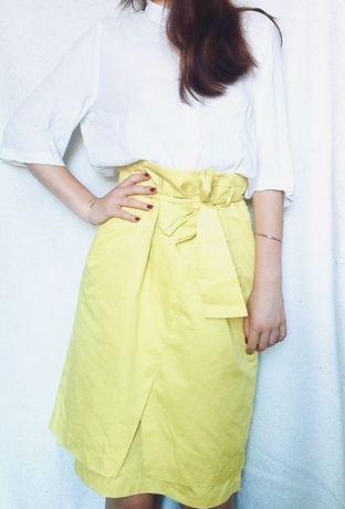 Nowa limonkowa spódnica Monnari
