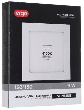 LED-светильник потолочный врезной 150*150 мм. 9W