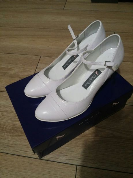 """Buty białe ślubne """"bialy bucik"""""""