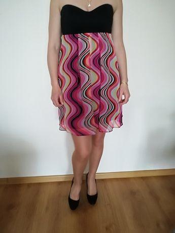 Asos zwiewna kolorowa sukienka 12 -40
