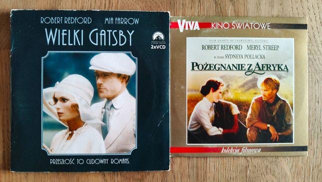 Zestaw filmów dvd Robert Redford Wielki Gatsby i Pożegnanie z Afryką
