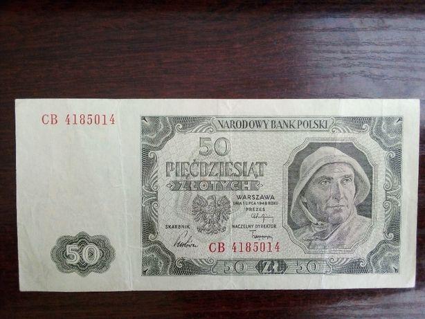 Banknot 50zł Polska 1948