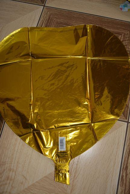 Balon hel, serce złote, 18 cali