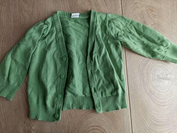Zielony sweterek H&M 74