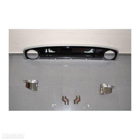 Spoiler / difusor traseiro em plastico ABS + ponteiras, para Audi A4 B8, de 2012-2015 Look RS4