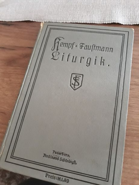 1915r. Liturgik - Kempf & Faustmann. Stara książka. Liturgia