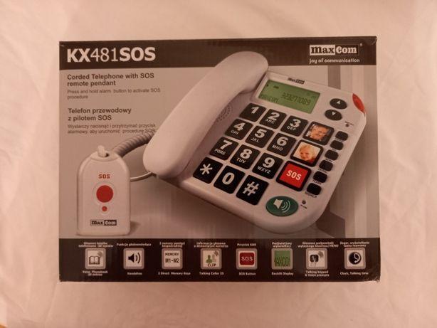 Telefon przewodowy MAXCOM KXT481 SOS - NOWY