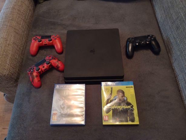 Konsola PlayStation 4 slim + 3 pady + dwie gry!!!