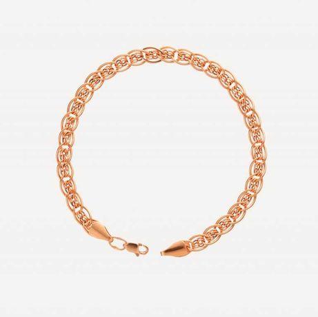 Золотой браслет плетение Нона-бимарк