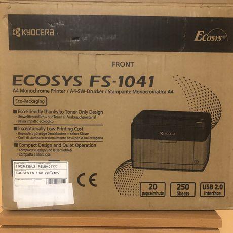 Лазерный принтер, МФу, Kyocera ecosys FS-1041, принтер