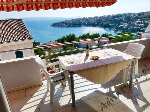 Chorwacja widok na morze! Apartament Nocleg Dom Wakacje Okrug Gornji
