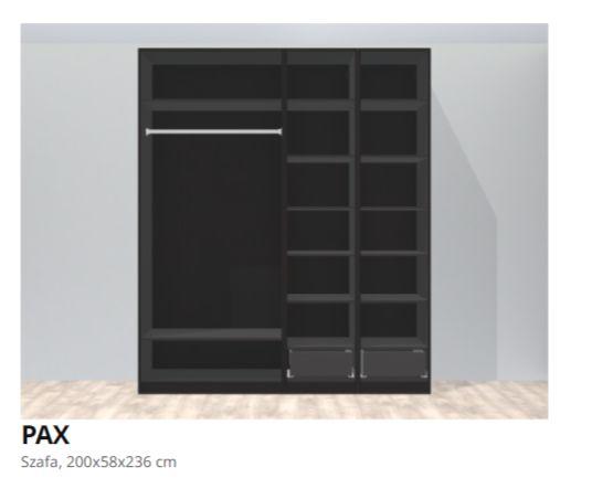 Szafa PAX IKEA z drzwiami przesuwnymi