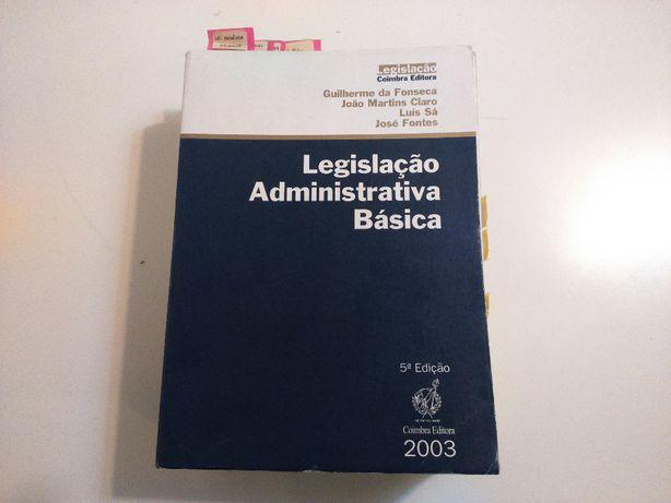 Livro Legislação Administrativa Básica Coimbra Ed