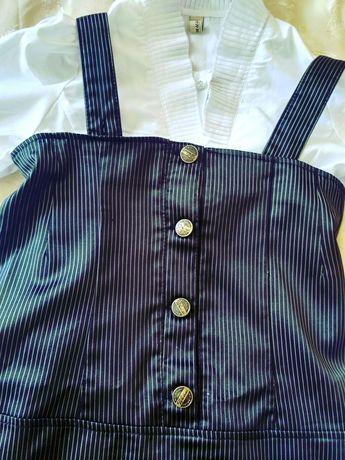 Блузка и сарафан нарядный школьный для девочки размер 146