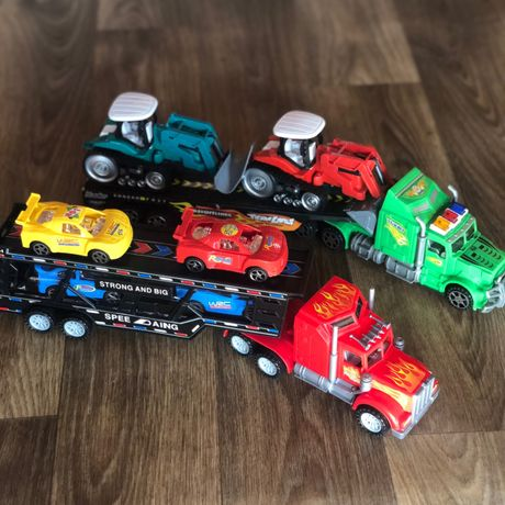 Машинка трейлер с машинами трейлер с тракторами машина