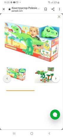 Конструктор molto + динозавр