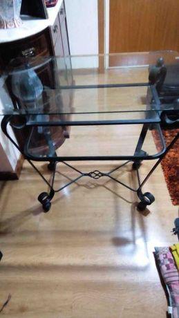 mesa para tv em vidro