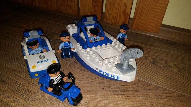 Lego Duplo Policja radiowóz motorówka