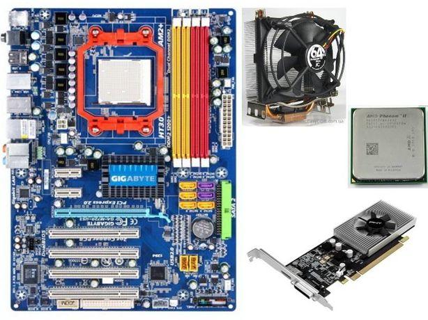 Phenom II X4 955 Black,GA-M720-US3,8Gb, GeForce GT710, Arctic-Cooler